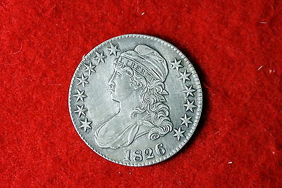 Cyberspacecoins 1826 Nice Grade Early Capped Bust Liberty Half Dollar MLF