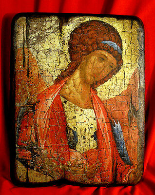 Handmade copy ancient ORTHODOX Church ICON of Guardian Angel Ангел Хранитель 15L