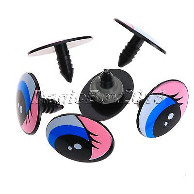 5 - 25 Pair Plastic Cute Cartoon Safety Eyes For Toy Puppets Dolls Making Craft