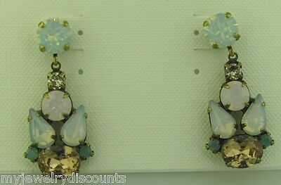 Sorrelli Rose water Earrings ECP5AGROW Antique gold tone