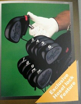 NEW Set of 9 Face Saver Iron Covers #3-SW BLACK RIGHT HAND Fits All Irons