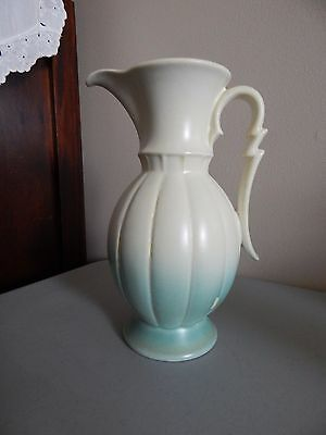 """STANGL Surf White Hand Painted Scallop Vase 3172 - 7"""" tall"""