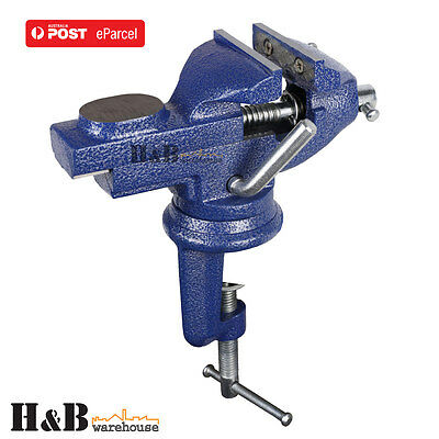 Heavy Duty 60mm 360º Swivel Table Bench Vice Clamp Die Cast Iron Mini Vise T0156