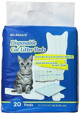 All-Absorb 20 Count Cat Litter Pads, 17.1 by 11.8-Inch (A06) [Water-Proof] CAO