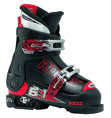 Roces Idea Ski Boots Junior (Toddler size) Black/Red Size 9-12 - New in Box!