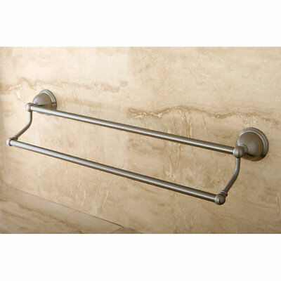 "Kingston Brass Restoration Double 24"" Wall Mounted Towel Bar Satin Nickel"