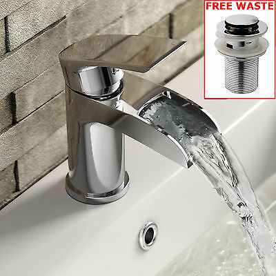 Bathroom Taps Waterfall Chrome Bath Filler Mixer Tap with Shower head
