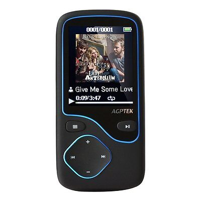 Agptek Lettore MP3 Bluetooth 4.0 da 8GB con supporto per Micro SD fino a 64 GB