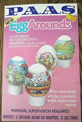VINTAGE 1983 PAAS EGG AROUNDS ~ EASTER ~Chicks~Bunnies Sealed