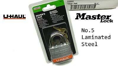 MASTER LOCK No 5 Laminated Steel High Security Uhaul Custom Branded Padlock