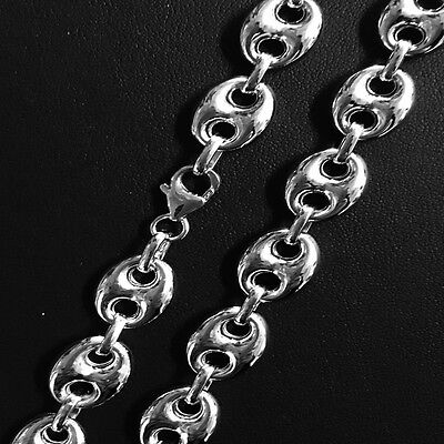 8mm Marina Mariner Link 925 Sterling Silver 14k Yellow Gold Italy Chain Anklet