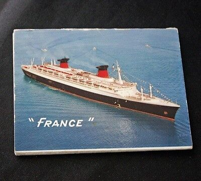"Vintage CGT FRENCH LINE SS ""France"" 12 View Folding Cards"