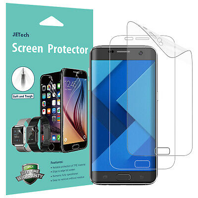 JETech 0925 Samsung Galaxy S7 Edge Screen Protector Full Cover PET HD Clear Film