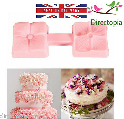 Silicone Petal Press 2 Sided Fondant Sugar Paste Cake Decorating Mould