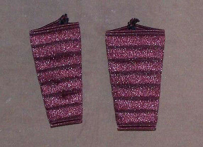 Pair of protections for shoulder straps belts Accordion. Red color Wine red