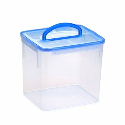 NEW Snapware Airtight Rectangle Storage Container w/ Handle 9.5L Blue