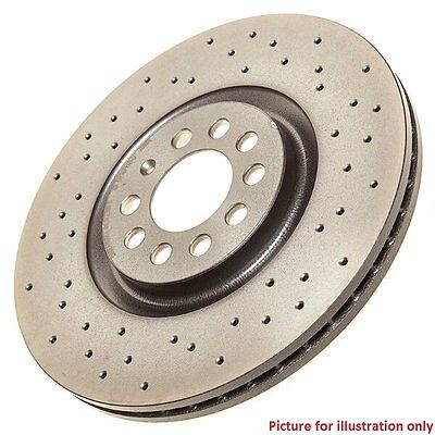 Front Performance High Carbon Drilled Brake Disc (Pair) 09.8137.2X - Brembo Xtra