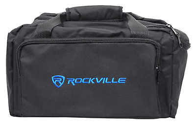 Rockville RLB80 Universal Travel Bag Fits 4x Slim Par Lights+Controller+Cables