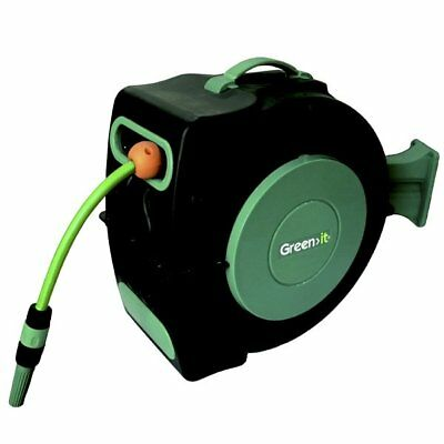 Green it® 91168 Comfort Wand-Schlauchbox 20 Meter roll-up automatic