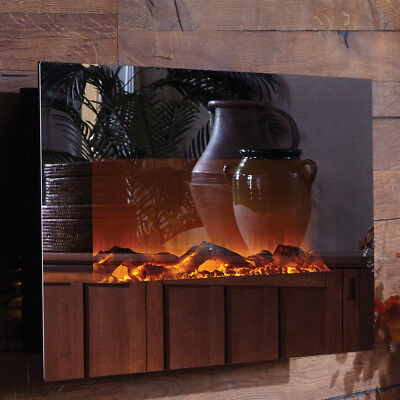 Touchstone Mirror Onyx™ Wall Mount Electric Fireplace