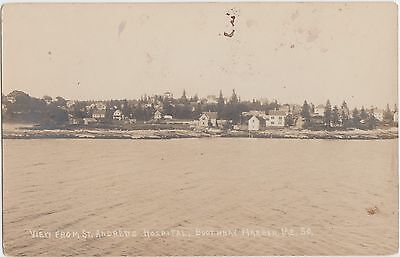 Maine Me Real Photo RPPC Postcard c1910 BOOTHBAY HARBOR St Andrews Hospital