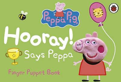 Peppa Pig Finger Puppet Book - New Book - Board Book - Hooray Says Peppa