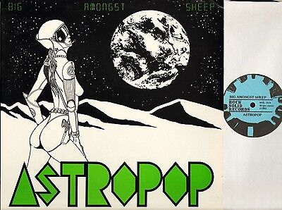 """ASTROPOP big amongst sheep RSS-01 with poster space rock uk 1983 12"""" PS EX/EX"""