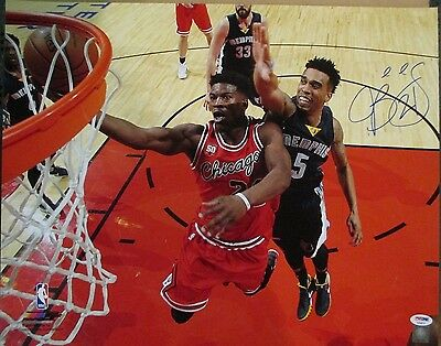 Psa/dna Jimmy Butler #21 Autographed Signed 16X20 Color Chicago Bulls Photo #2