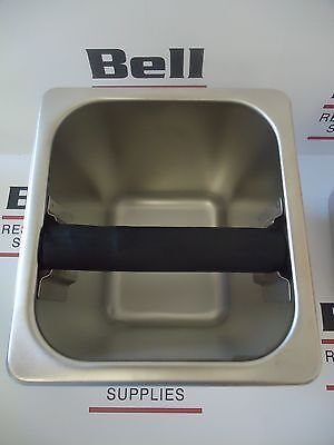 """*NEW* Update KB-166 Stainless Coffee Espresso Knock Box - 6"""" Deep - FREE SHIP"""