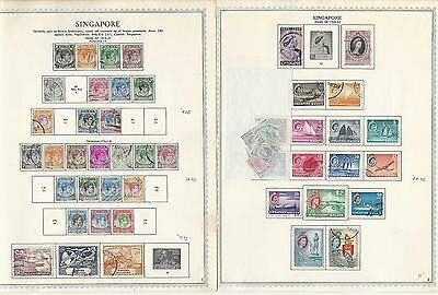 Singapore Collection 1948 to 1972 on Minkus Pages, SCV $154, 10 Pages