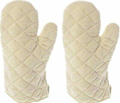 """2 pack Oven Mitts/ Gloves 15"""", Terry Cloth, Commercial Restaurant, 450F TEC15"""