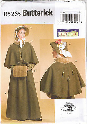Victorian Dickens Fair Cape Skirt Bonnet Muff Costume Sewing Pattern 14 16 18 20