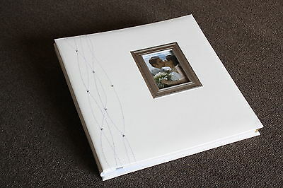 Fashion White Leather Cover 20 Self-Adhesive Sheets of 315 x 325 mm Photo Album