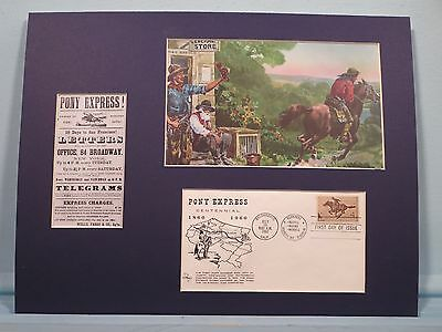 The 100th Anniversary of the Pony Express & First day Cover of its own stamp