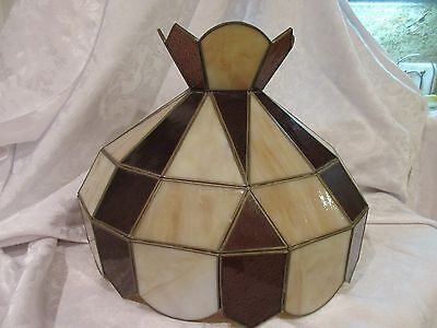 Vintage Leaded Glass Lamp Shade for Hanging Ceiling Light MEXICO