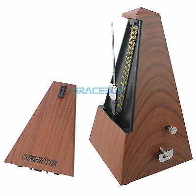Vintage Metronome Mechanism Wind-up Metronome for Musician Beginners Students