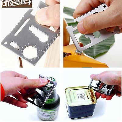 Multi Tools 11in1 Hunting Survival Camping Pocket Military Credit Card tool New