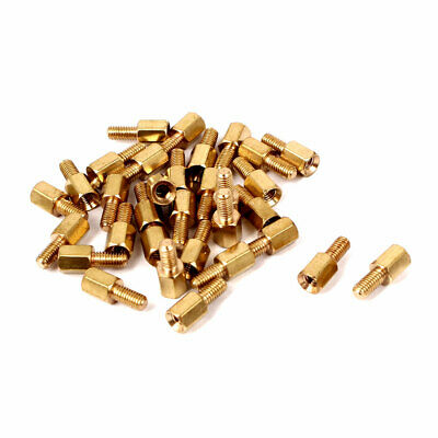 M3 Male/Female Thread Brass Hexagonal PCB Spacer Standoff Support 6mm+6mm 30pcs