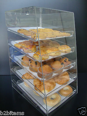Acrylic Pastry Bakery Donut CUPCAKE Stand Display Case with 5 trays