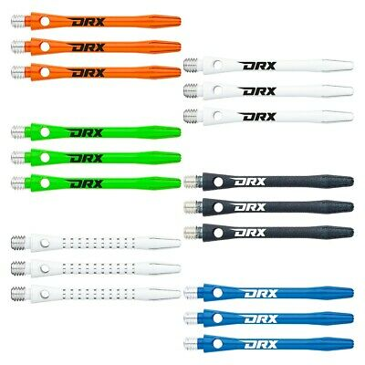 DRX COATED ALUMINIUM DART SHAFTS - 2 sets per pack (6 stems in total)