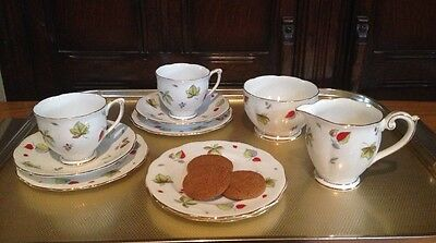 Vintage Queen Anne Tea For Two Set