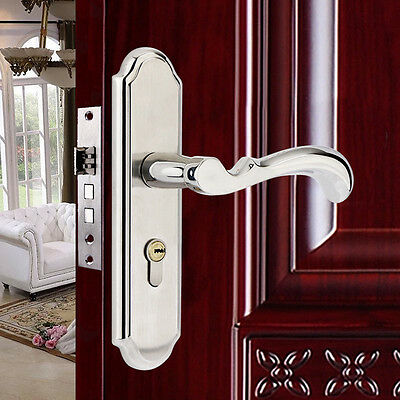 Stainless Steel Full Set Privacy Door Security Entry Lever Mortise Handle Locks