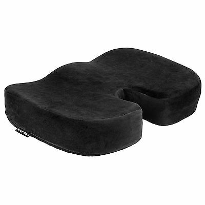 Plush Padded Black Memory Foam Seat Cushion Base Posture Support Car/home/office