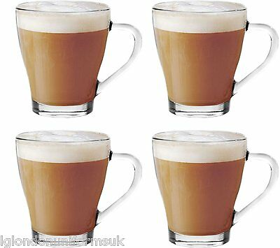265ml Glass Cappuccino Tea Coffee Latte Hot Chocolate Cups Mugs Glasses