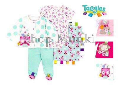 TaGgies Baby Girl's 4 Piece Outfit and Blanket Set