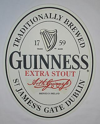 New Guinness Guiness Oval English Extra Stout Label 3D Wall Art Sign