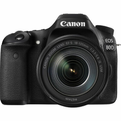 Canon EOS 80D Digital SLR DSLR Camera w/ EF-S 18-135mm Lens Blk w/ 1 Yr Warranty