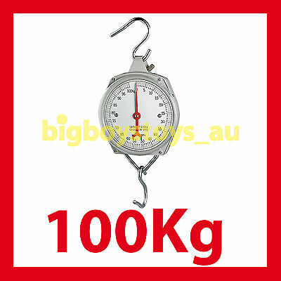 Hanging Scales Mechanical With Hook 100Kg Capacity * Fishing*butchers *metal *