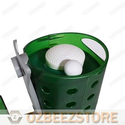 Semi auto golf ball dispenser with Rubber mat & tee for practice and training