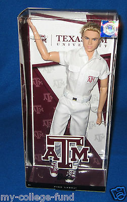 Barbie Texas A&M University Cheerleader Ken Doll NEW
